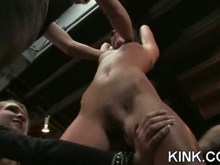 Porn Tube of French Girl Bound And Double Penetrated
