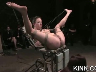 Porn Tube of Extreme Fantasy Of Girl Bound And Double