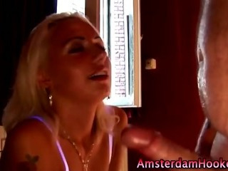 Porn Tube of Blonde Dutch Real Whore Takes Cumshot