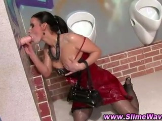 Porno Video of Wam Loving Gloryhole Bitch Gets Bukkake