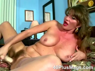 Porno Video of Busty Mature Hairy Pussy Solo