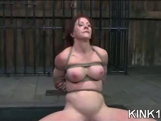 Porn Tube of Babe Does Splits In Bondage
