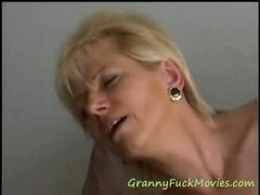 very experienced blonde mature bitch