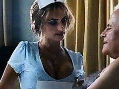 Penelope Cruz in a hot nurse uniform