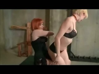 Porn Tube of Lesbian Spanking And Strap On