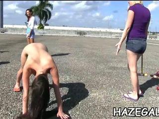 Porno Video of Lesbo Fun Before Public