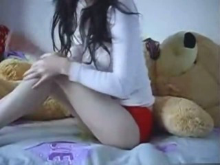 Porn Tube of Teen Rides A Teddybear