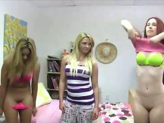 Porn Tube of Naughty College Teen Turn Lesbo