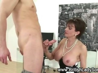 Porn Tube of Mature Stocking Brit Sonia Fuck And Blowjob