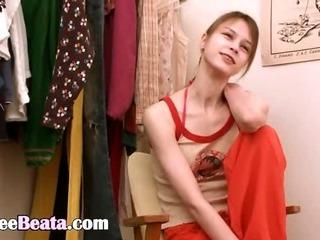 Porn Tube of Beata Teen Fingering In Dressing Home