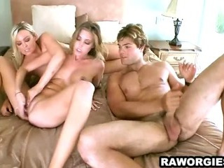 Porn Tube of Three Breath Taking Beauties In A Hotel Room Fucking