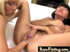 hot gaping anal lesbian fisting sex