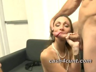 Porn Tube of Amateur Slut Cash For Threeway Where She Sucks And Gets Fucked