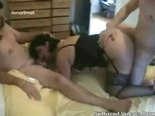 Porno Video of Swinger Wife Threesome Sex