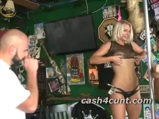 Porn Tube of Cute Blonde Lured Into Playing With A Complete Stranger For A Pile Of Cash