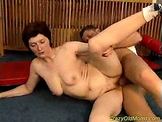 Porno Video of Crazy Old Mom Gets Fucked Hard Sucking That Big Cock