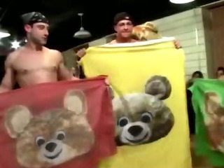 Porn Tube of Party Amateurs Getting Their Blowjob On With Some Stripper