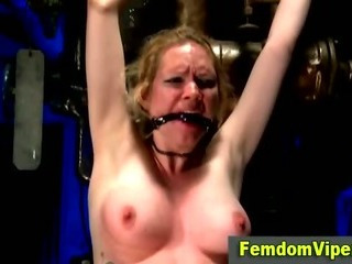 Porn Tube of Tearful Lezdom Victim Takes Vibrator Play