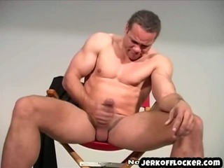 Porn Tube of Big Huge Guy Plays With His Cock