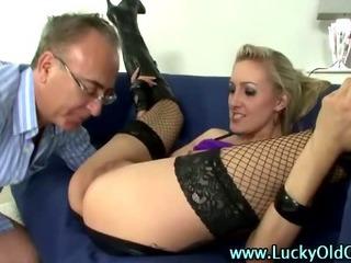 Porn Tube of Older British Guy Ass Fucks A Blonde Slut In Boots