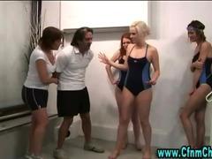 Swim coach gets handjob from cfnm