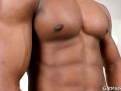 Black beauty jerking his amazing dick