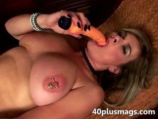 Porno Video of Mature Slut Uses Two Toys