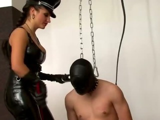 Porn Tube of Bondage Cock Whipped Into Shape