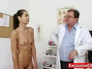 Porno Video of Petite Latina Ferrera Gomez Pussy Checkup Up Close