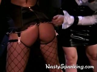 Porn Tube of Lesbian Pornstars Otk Spanked