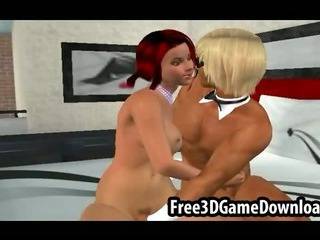 Porn Tube of 3d Cartoon Stripper With Red Hair And A Sexy Body