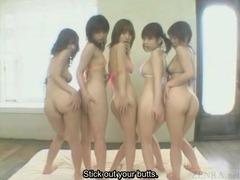 Subtitles POV bottomless Japanese AV lesbian rimjob