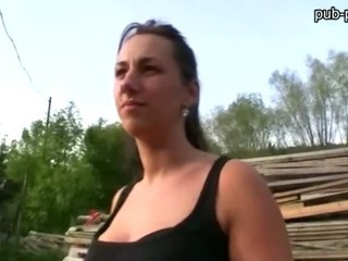 Porno Video of Amateur Czech Girl Convinced To Have Sex In Public