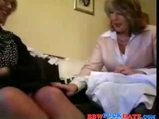 Porn Tube of Two Bbw Lesbian Grandmothers Playing