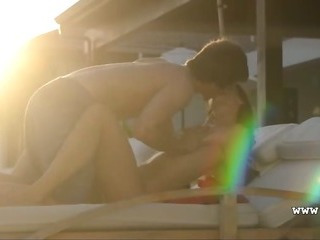 Porn Tube of Mutual Women Orgasm On The Sunbed