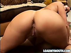 Vanessa Videl swallows