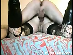 Stockings Boots And Anal