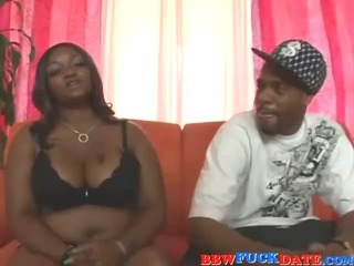 Porn Tube of Huge Ass Black Bbw Screwing On The Couch