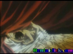 Hentai gay hardcore anal sex in bed