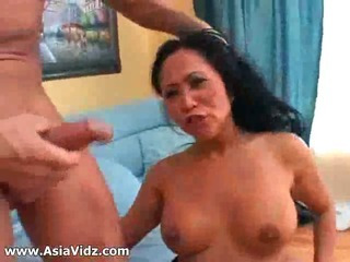 Porn Tube of Big Breasted Asian Nympho Kitty Langdon Gives Blowjob In Pov And Gets Pussy Fucked