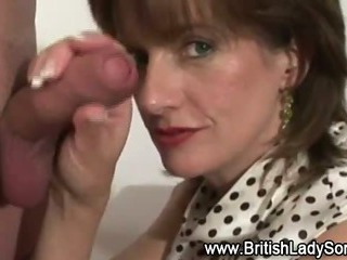 Porn Tube of Hot Mature British Blowjob
