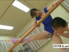 Subtitled Japanese rhythm gymnast fingers ballet dancer