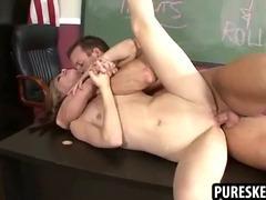 Goth schoolgirl getting fucked by her teacher