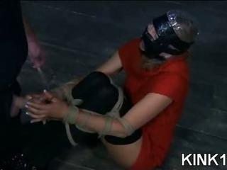 Porno Video of Shocked Bitch In Bondage