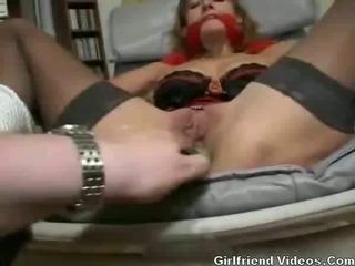 Porn Tube of Bondage Ass Toy, Bj & Facial