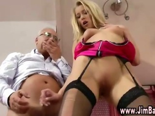 Porno Video of Hot Blonde Gets Nailed By Old Guy From Behind And Stuff