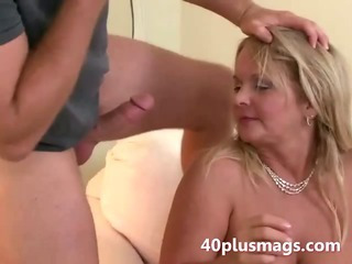 Porn Tube of Chubby Blonde Wife Takes Young Stud