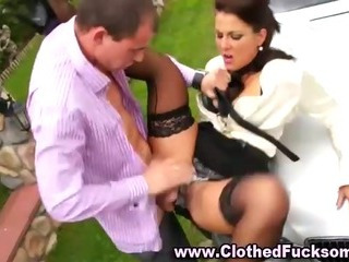 Porno Video of Clothed Fetish Glamour Slut Blowjob And Fuck