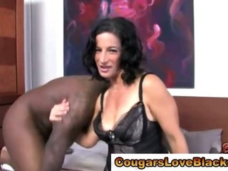 Porno Video of Mature Cougar Milf Sucking Big Black Cock