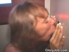 Dirty Mature Brunette Sucking Dick At Glory Hole Like A Slut